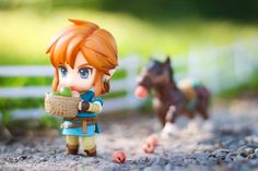 Link and his horse - Nendoroid The Legend Of Zelda, Anime Figures, Action Figures, Twilight Princess Hd, Botw Zelda, Pokemon Toy, Kawaii Chibi, Video Game Characters, Breath Of The Wild
