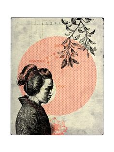 HELP JAPAN - Japanese Girl giclee print ~ One Little Bird {100% profits will be donated to Global Giving.} £18.50