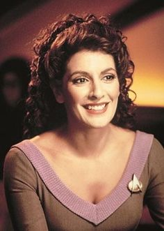 If there was ever a time when Deanna Troi didn't look fly as heck, please don't . - If there was ever a time when Deanna Troi didn't look fly as heck, please don't let me know ; Star Trek Crew, Star Trek Tv, Star Wars, Star Trek Enterprise, Star Trek Voyager, Star Trek Original Series, Star Trek Series, Sport Tv, Science Fiction