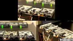 Boss Battle Theme From 'Final Fantasy VII' Played by Sixteen Floppy Drives