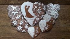 "Wedding gingerbread set ""White and Brown"" 