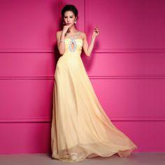 Classic Rhinestones Embellished Sleeveless Long Formal Dresses