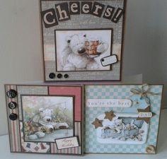 Wellington Bear Birthday Cards. Masculine Birthday Cards, Birthday Cards For Men, Handmade Birthday Cards, Masculine Cards, Handmade Cards, Male Birthday, Bear Birthday, Happy Birthday, Men's Cards
