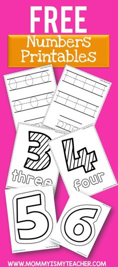 Wow Look At All These Free Math Printables Will Be Great For My Preschool ActivitiesNumber