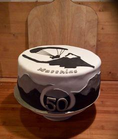 Cake paragliding paraglider man fondant