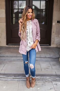 Lilac Button Jacket