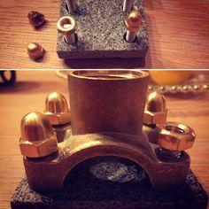 double Jack granite&brass base Jack Daniels, Cufflinks, Brass, Granite, Accessories, Granite Counters, Wedding Cufflinks, Jewelry Accessories, Rice