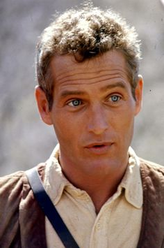 Paul Newman on the set of Butch Cassidy and the Sundance Kid.