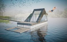 houseboat slovakia design