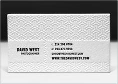 David West business card