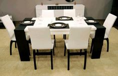 Wonderful Modern Dining Room Furniture is part of Fabric dining room chairs whenever people are adorning Workplace don& forget about the fantastic assortment of Modern Dining Room Furniture, may he - Cheap Dining Room Sets, White Dining Room Table, Black And White Dining Room, Fabric Dining Room Chairs, Dining Room Colors, Modern Dining Room Tables, Dining Room Design, A Table, Dining Sets