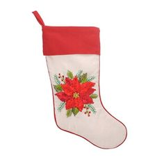 Yester-year Embroidered Christmas Stocking - Poinsettia Grasslands Road http://www.amazon.com/dp/B00G1XDCCS/ref=cm_sw_r_pi_dp_WRrAub16H4ZPM
