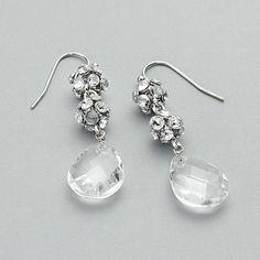 Simply Vera Vera Wang Silver Tone Linear Drop Earrings