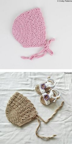 Newborns and babies need a lot of protection, so hats and bonnets are a must have. Every baby looks stunning in tiny bonnet, so apart from being Baby Bonnet Pattern Free, Crochet Baby Bonnet, Crochet Baby Dress Pattern, Newborn Crochet Patterns, Crochet Baby Beanie, Crochet Baby Clothes, Crochet Patterns Amigurumi, Baby Knitting, Crochet For Kids