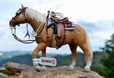 Western Saddle, Schleich horse by mojcaj , model horse