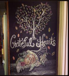 Thanksgiving chalkboard drawing