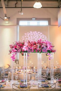 NEW Clear Acrylic Modern Rectangular Tall Stand Wedding image 2 Wedding Table Centerpieces, Flower Centerpieces, Wedding Decorations, Table Decorations, Tall Centerpiece, Modern Centerpieces, Centerpiece Ideas, Quince Decorations, Wedding Bouquets