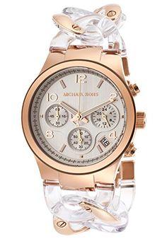 be782d1953 Amazon.com: Michael Kors Runway Twist White Dial Clear Acetate Twist Ladies  Watch MK4282: Michael Kors: Watches