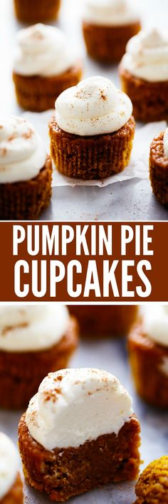 Pumpkin Pie Cupcakes with Cream Cheese Whipping Cream are all of the things you love about the pie in the ease of a cupcake. Topped with amazing cream cheese whipping cream, these will be the BEST cupcakes you ever eat!!
