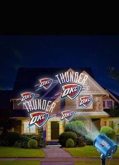 Oklahoma City Thunder Team Pride Lights