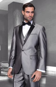 SKU#PN19 Mens Unique Bright Colorful Tuxedo Or Suit With Vested 3 Pieces black trimmed lapel Shiny Flashy Sharskin Silver Grey. Get thrilling discounts at Men's USA using coupon and Promo Codes.
