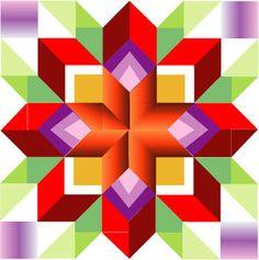 Quilt Square Patterns, Barn Quilt Patterns, Pattern Blocks, Square Quilt, Paper Patterns, Modern Quilt Blocks, Star Quilt Blocks, Barn Quilt Designs, Quilting Designs