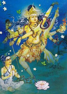 Shiva dancing for His devotee Karaikkal Ammaiyar Mughal Paintings, Tanjore Painting, Indian Paintings, Shiva Art, Shiva Shakti, Hindu Art, Om Namah Shivaya, Indian Gods, Indian Art