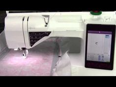 Husqvarna Viking Designer Ruby 63 How to Embroider a Built-in Embroidery Design - YouTube