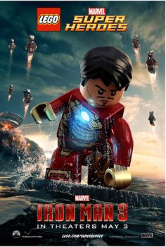 'Iron Man 3' Posters In Cute LEGO Form - DesignTAXI.com