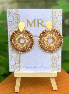 Beaded Bracelet Patterns, Beaded Earrings, Beaded Bracelets, Jewellery Diy, Ropes, Beaded Embroidery, Jewerly, Beading, Crochet Necklace