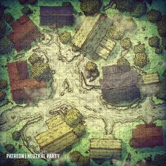 Well dang, I really messed up this time, I made another map for a place where there obviously will not be any fighting- this little village… Fantasy Map Making, Fantasy City Map, Fantasy World Map, Dungeons And Dragons Homebrew, D&d Dungeons And Dragons, Dnd World Map, Pathfinder Maps, Village Map, Dnd Dragons
