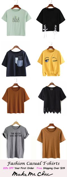 End Friday=> This amazing cute tshirts for teens Funny for Tshirt Skirt will look entirely fantastic, need to keep this in mind when I've got a little bucks saved up. Teen Fashion Outfits, Outfits For Teens, Summer Outfits, Casual Outfits, Cute Outfits, Make Me Chic, Cute Tshirts, Western Outfits, Casual T Shirts