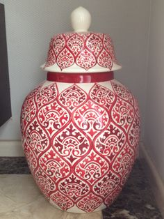 Pottery Painting, Ceramic Painting, Ceramic Art, Turkish Tiles, Turkish Art, Paper Mesh, Keramik Vase, Asian Decor, Ginger Jars