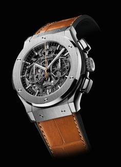 Hublot - Dutch Bang  Surprise, surprise it's another limited edition (25 pieces) from Hublot. Classic Fusion titanium case. Skeleton movement. Orange gold second hand (hence Dutch Bang). In all honesty I kind of like this one. Guess the Dutch Bang orange second hand thing is awakening my chauvinism.....