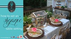 How to decorate a table in a organic setting... - Twyne Tips 2