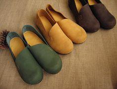 3 colori Fatto a mano scarpe piatte per le donne scarpe