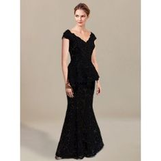 Lace Mother of Groom Dress with Cap Sleeves MO331