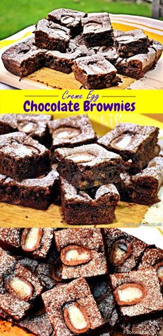 Creme Egg Chocolate Brownies the perfect Easter treat! Fab Food 4 All