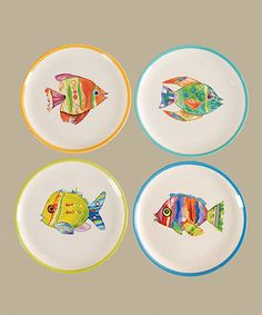 Another great find on #zulily! Fish Out of Water Plate Set #zulilyfinds