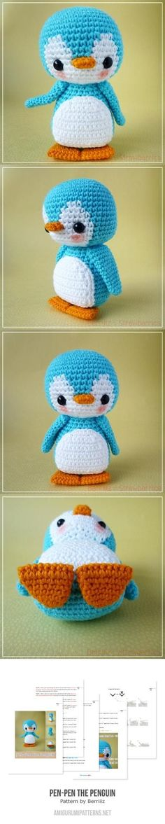 Pen-Pen The Penguin Amigurumi Pattern
