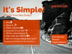Will it Fly? Don't break your piggy bank before testing commercial potential.  Validating your idea shouldn't leave your bank account dry!  Before you sink $10,000 on a non-provisional patent application test the waters with a provisional patent application, it will cost less than your cell phone bill, requires no claims and gives your invention Patent Pending status.