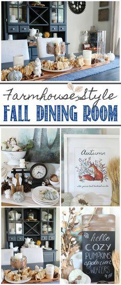 Beautiful fall dinin