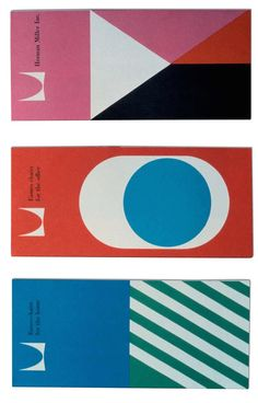 Irving Harper, Don Ervin, Tony Zamora, Dick Schiffer and Associates at George Nelson's Office; Brochures for Herman Miller, 1960.