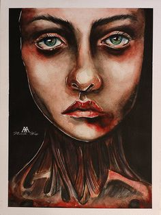 AFTERLIFE by MWeiss (oldskulllovebymw) original painting on watercolour acid free paper The paper measures 18 x 24 cm created in watercolors. Traditional Art, Septum Ring, Fine Art Prints, Original Paintings, Deviantart, Free Paper, The Originals, Watercolors, Illustration