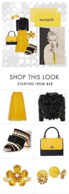 """""""MARIGOLD"""" by aquadecorator on Polyvore featuring Rochas, Alexander McQueen, Miss KG, David Tutera and Kate Spade"""
