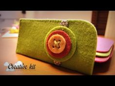 Pouch, Wallet, Big Shot, Felt Crafts, Gifts For Friends, Coin Purse, Make It Yourself, Glasses, Sewing
