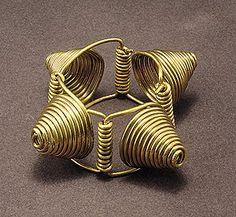 "Bracelet, 1935  Brass wire  5 1/2"" x 2"" x 3 3/8""  Calder Foundation, New York"