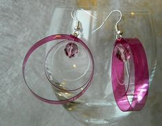 Recycled Plastic Bottle Earrings - DIY jewellery #upcycling