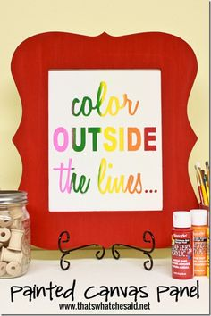 Color Outside the Lines Painted Canvas