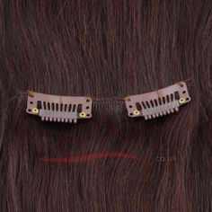 16 Inch 10pcs Clip-in Human Hair Extensions Straight (#99j)